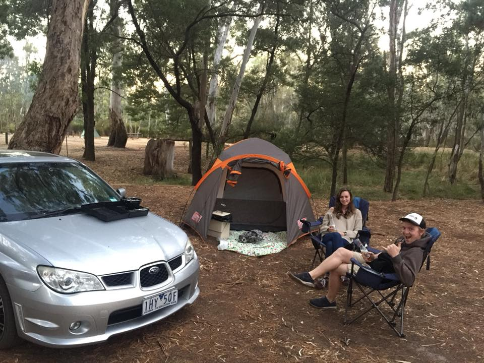 camping at plantation campground, the grampians