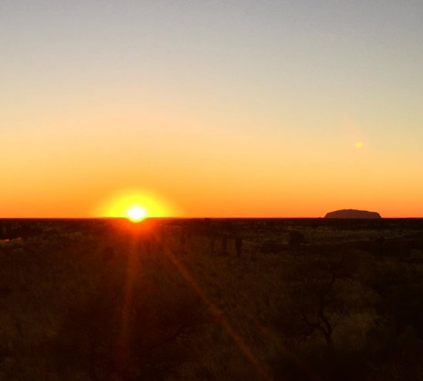 sunrise at ayers rock uluru