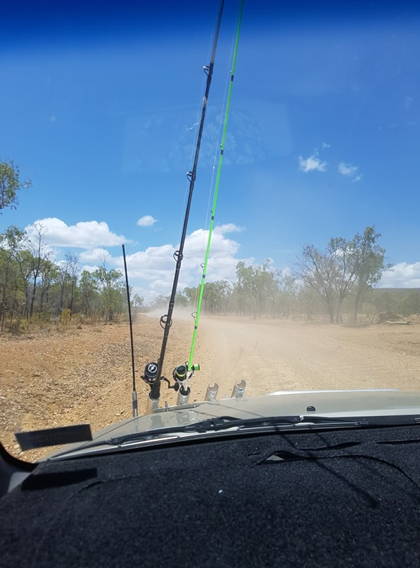 driving to the mitchell river, queensland